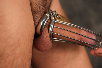 Active Duty Male Chastity Cock Cage