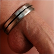 Designer Series Stainless Steel Cock Ring Single Accent