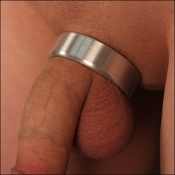 Wide Medical Grade Heavy Duty Stainless Steel Plain Cock Ring
